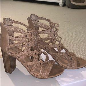 Merona lace up heels